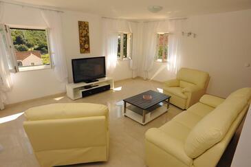 Sutivan, Living room in the house, dopusteni kucni ljubimci.