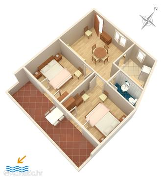 Hvar, Plan in the apartment, (pet friendly) and WiFi.