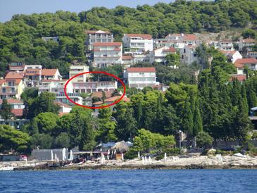 Hvar, Hvar, Objekt 115 - Ubytování s oblázkovou pláží.