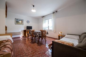 Komiža, Dining room in the apartment, dopusteni kucni ljubimci i WIFI.