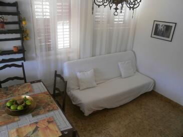 Žrnovska Banja, Dnevna soba v nastanitvi vrste apartment, dostopna klima, Hišni ljubljenčki dovoljeni in WiFi.