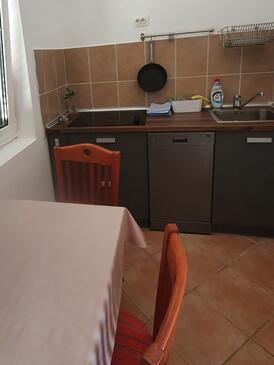 Novalja, Kuchyně v ubytování typu house, WiFi.