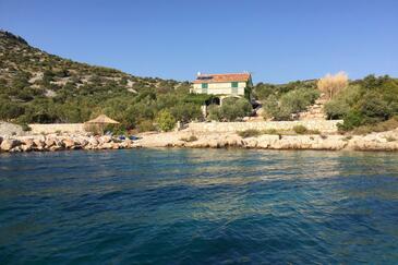 Donje More, Pašman, Hébergement 11515 - Maison vacances à proximité de la mer avec une plage rocheuse.