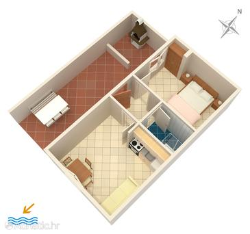 Rukavac, Plan in the apartment, (pet friendly) and WiFi.