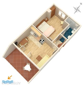 Rukavac, План в размещении типа apartment, Домашние животные допускаются и WiFi.