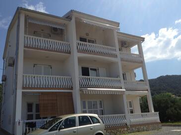 Barbat, Rab, Property 11532 - Apartments with pebble beach.