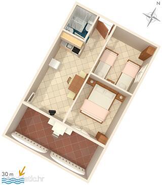 Rukavac, План в размещении типа apartment, WiFi.