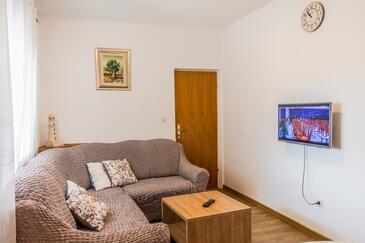 Trpanj, Obývacia izba v ubytovacej jednotke apartment, WiFi.