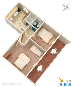 Basina, План в размещении типа apartment.