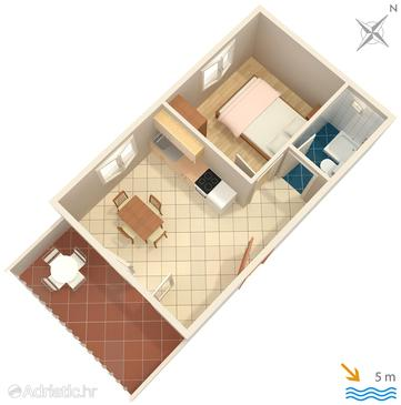 Basina, plattegrond in the apartment, WiFi.