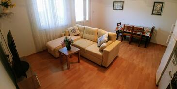 Marina, Living room in the apartment, (pet friendly) and WiFi.