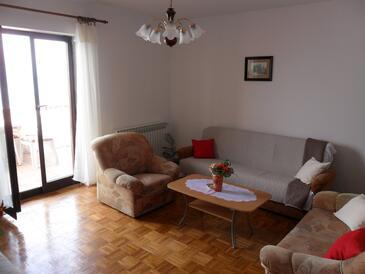 Senj, Living room in the apartment, dostupna klima, dopusteni kucni ljubimci i WIFI.