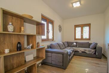 Dajla, Obývacia izba v ubytovacej jednotke house, dopusteni kucni ljubimci i WIFI.