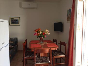 Kalebova Luka, Dining room in the apartment, dostupna klima i WIFI.