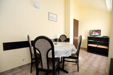 Vodice, Jedilnica v nastanitvi vrste apartment, Hišni ljubljenčki dovoljeni in WiFi.