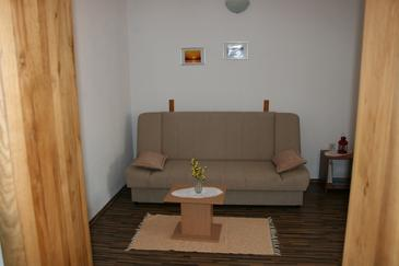 Okrug Gornji, Living room in the apartment, dostupna klima, dopusteni kucni ljubimci i WIFI.
