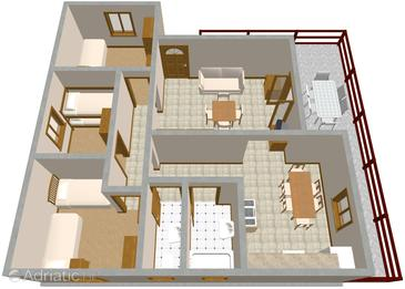 Vinišće, Plan in the apartment, WIFI.