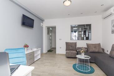 Brela, Гостиная в размещении типа apartment, доступный кондиционер и WiFi.
