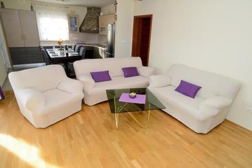Posedarje, Living room in the apartment, WIFI.
