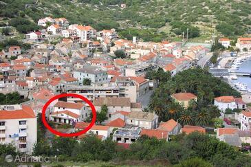 Vis, Vis, Szálláshely 1170 - Apartmanok a tenger közelében kavicsos stranddal.
