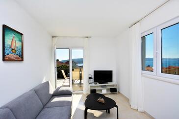 Seget Vranjica, Living room in the apartment, WiFi.