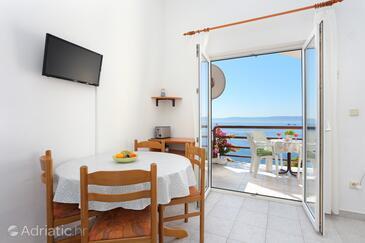 Rastići, Jídelna v ubytování typu apartment, s klimatizací a WiFi.
