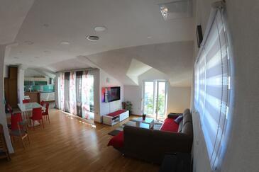 Zadar, Obývací pokoj v ubytování typu house, WiFi.
