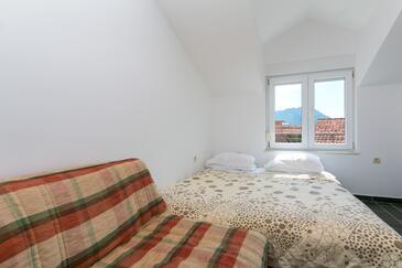 Podaca, Obývací pokoj v ubytování typu apartment, s klimatizací a WiFi.