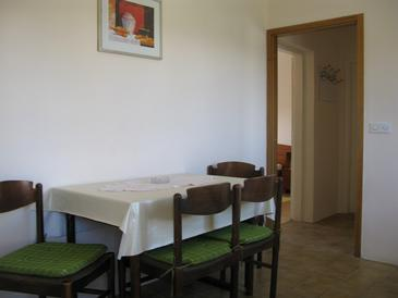 Supetarska Draga - Donja, Dining room in the apartment, dopusteni kucni ljubimci i WIFI.
