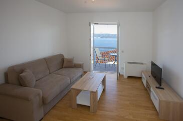 Zavode, Obývací pokoj v ubytování typu apartment, s klimatizací a WiFi.