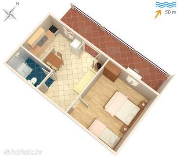 Mudri Dolac, Proiect în unitate de cazare tip apartment, animale de companie sunt acceptate.
