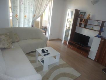 Podstrana, Salon dans l'hébergement en type apartment, climatisation disponible, animaux acceptés et WiFi.