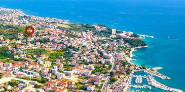Podstrana, Split, Hébergement 11802 - Appartement avec une plage de galets.