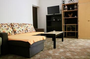 Karin Gornji, Living room in the apartment, dostupna klima i WIFI.