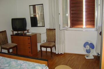 Komiža, Spálňa v ubytovacej jednotke room, WIFI.