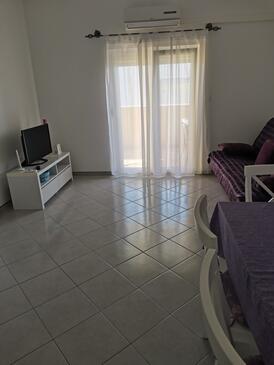 Zečevo Rtić, Obývací pokoj v ubytování typu apartment, WiFi.