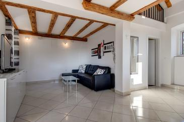 Mali Lošinj, Obývacia izba v ubytovacej jednotke studio-apartment, WIFI.