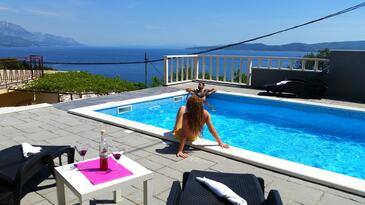 Marušići, Omiš, Property 11898 - Vacation Rentals with pebble beach.