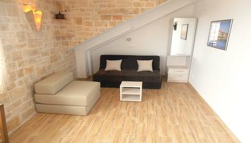 Baška Voda, Obývacia izba v ubytovacej jednotke apartment, dostupna klima i WIFI.