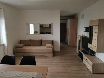 Neviđane, Living room in the apartment, dostupna klima, dopusteni kucni ljubimci i WIFI.