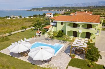 Ljubač, Zadar, Объект 11922 - Апартаменты вблизи моря с песчаным пляжем.