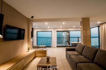 Vidalići, Dnevna soba v nastanitvi vrste apartment, dostopna klima, Hišni ljubljenčki dovoljeni in WiFi.