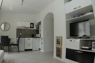 Makarska, Dnevna soba v nastanitvi vrste apartment, dostopna klima, Hišni ljubljenčki dovoljeni in WiFi.