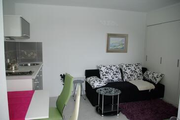Makarska, Dnevna soba v nastanitvi vrste apartment, Hišni ljubljenčki dovoljeni in WiFi.