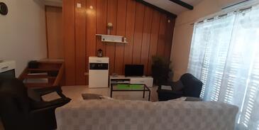 Tribunj, Гостиная в размещении типа apartment, доступный кондиционер и WiFi.