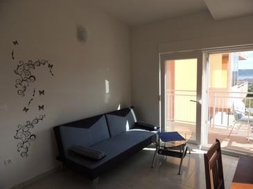 Kaštel Stari, Living room in the apartment, (pet friendly) and WiFi.