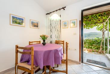 Rabac, Dining room in the apartment, (pet friendly) and WiFi.