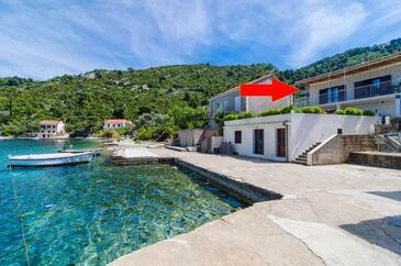 Prožurska Luka, Mljet, Property 12181 - Apartments near sea with rocky beach.