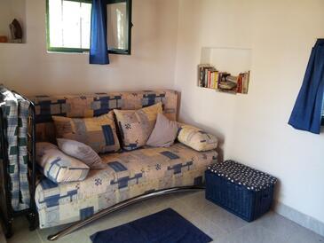 Milna, Obývacia izba v ubytovacej jednotke house, dopusteni kucni ljubimci.