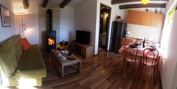 Forčići, Obývacia izba v ubytovacej jednotke house, dopusteni kucni ljubimci i WIFI.